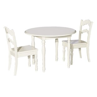 Anton 3 Piece Table and Chair Set  sc 1 st  Wayfair : black table and chair set - pezcame.com