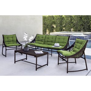 Crick Indoor/Outdoor 4 Piece Seating Group With Sunbrella Cushion (Set Of 4)