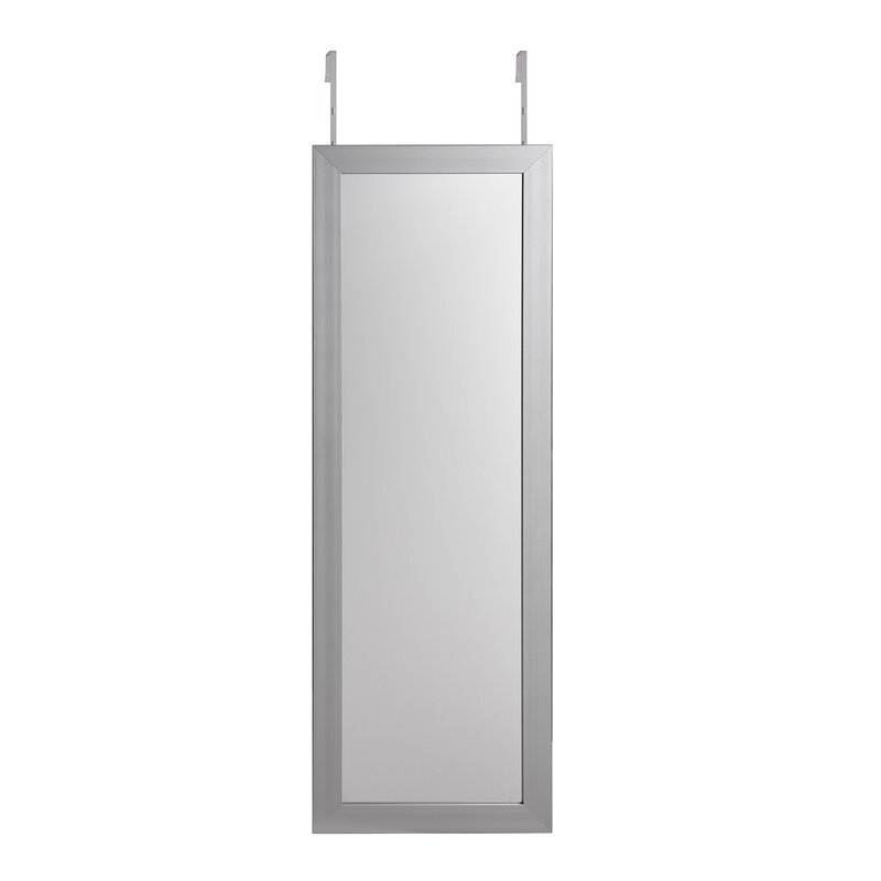 Michelle Full Length Over The Door/Wall Mounted Jewelry Armoire With Mirror
