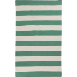 Kramer Emerald Green & Ivory Area Rug