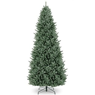 Slim 12 Green Fir Artificial Christmas Tree With Stand