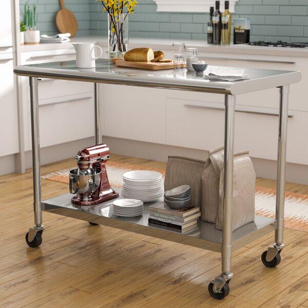 Narrow Kitchen Prep Table | Wayfair