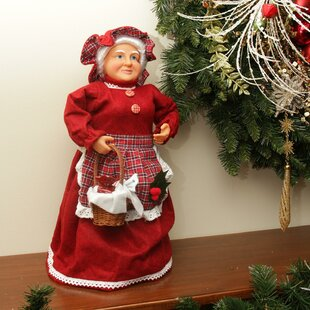 mrs claus basket of sweets christmas tree topper or table top decoration