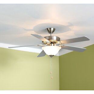 Flush mount ceiling fans youll love wayfair 52 hamlett 3 light 5 blade ceiling fan aloadofball Gallery