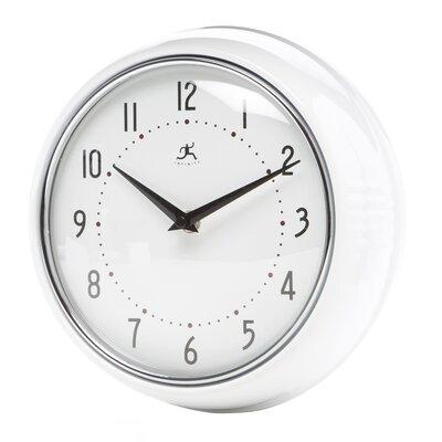 Brayden Studio Maysonet 9.5 Wall Clock Finish: White