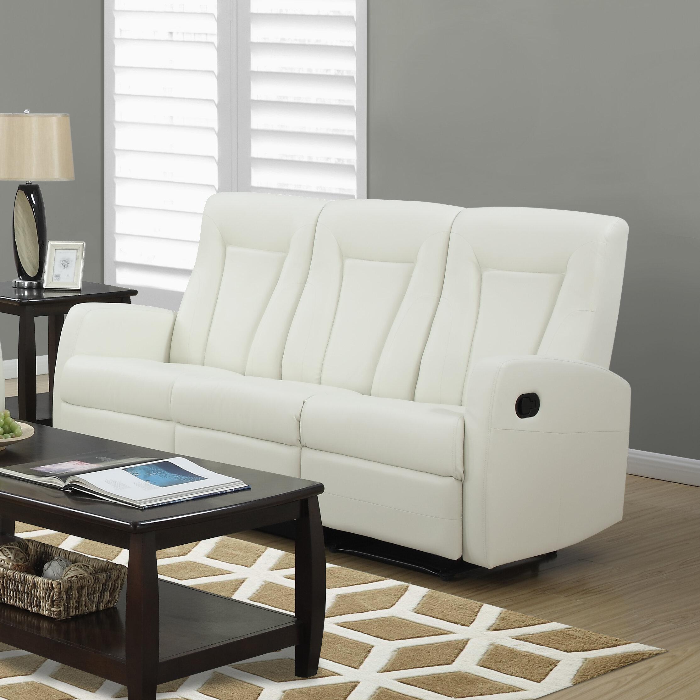 Monarch Specialties Inc. Bonded Leather Reclining Sofa U0026 Reviews | Wayfair
