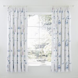 Salcombe Lined Pencil Pleat Curtains (Set of 2)