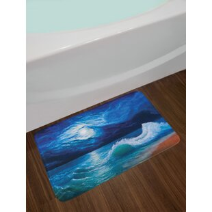 Navy White Bath Rug Wayfair