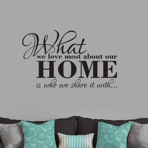 What We Love Most About Our Home Wall Decal