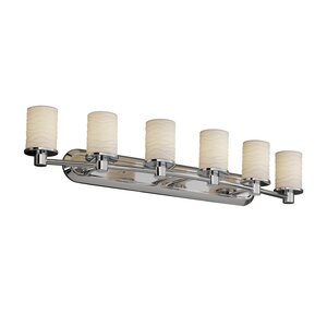 Rondo Limoges 6 Light Cylinder w/ Flat Rim Bath Vanity Light