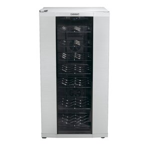 32 Bottle Dual Zone Freestanding Wine Cooler by Cuisinart