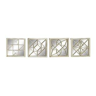 4 Piece Metal Mirror Wall Décor Set