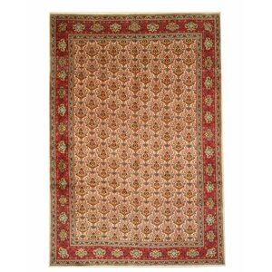Tabriz Hand-Knotted Red/Brown Area Rug