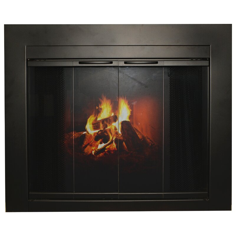 Ironhaus Fremont Bifold Steel Fireplace Doors Wayfair
