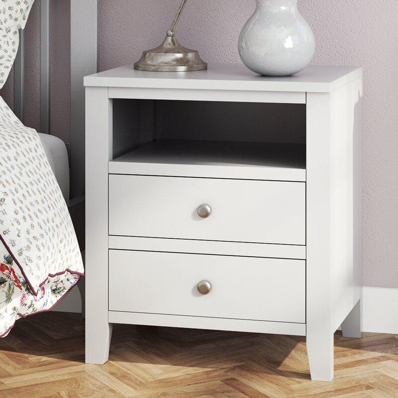 fairmont park kingsbridge 2 drawer bedside table & reviews | wayfair Different Bedside Tables