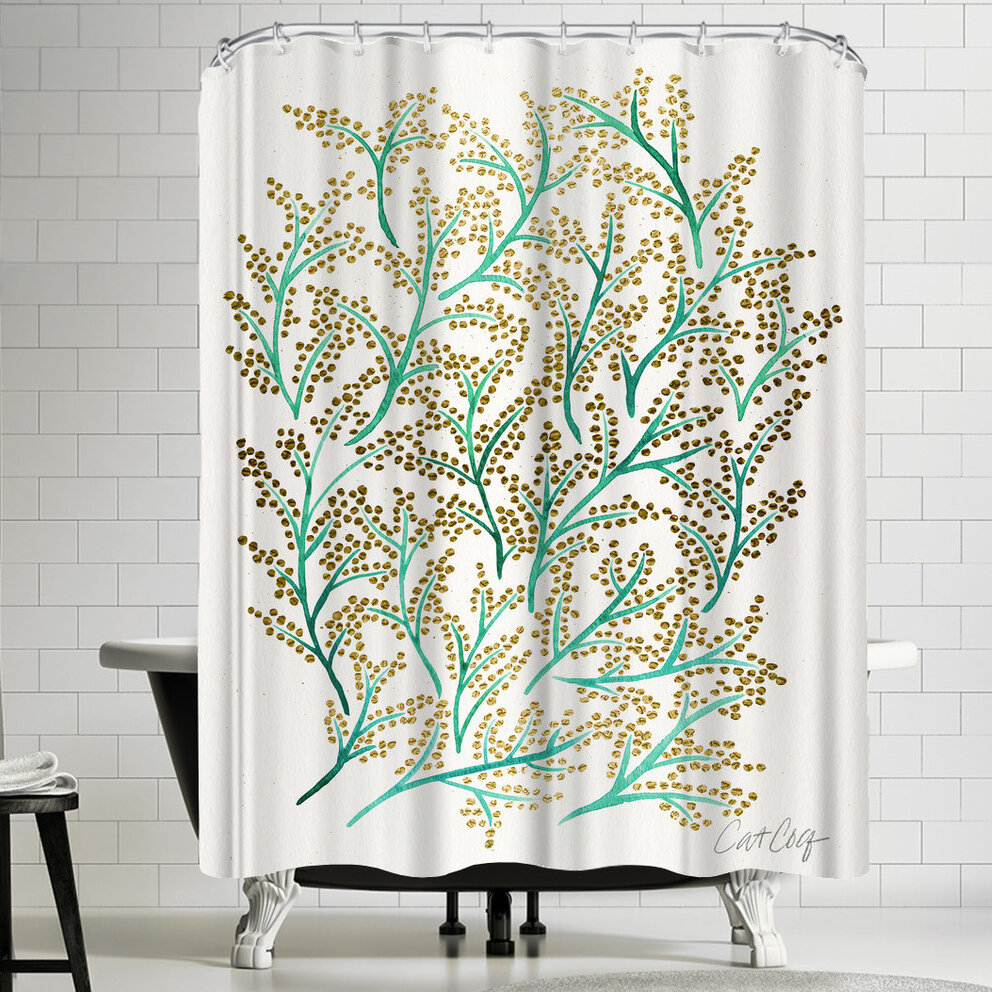 100% Quality Curtains Home & Garden Window Treatments & Hardware Beige, Gold And Very Light Green