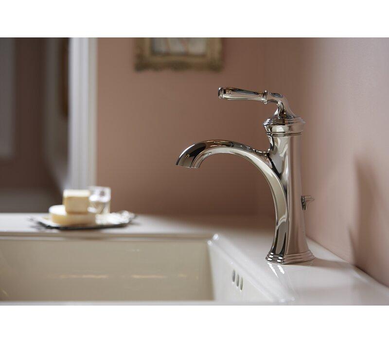 K-193-4-2BZ,BN,BV Kohler Devonshire Single Hole Bathroom Faucet with ...