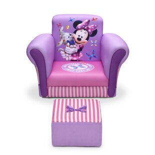 Minnie Mouse Kids Chair and Ottoman. By Delta Children