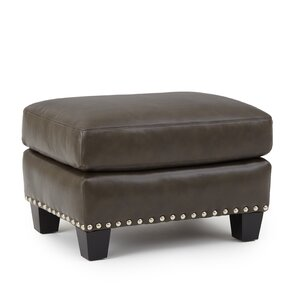 Mesilla Leather Ottoman by World Menagerie