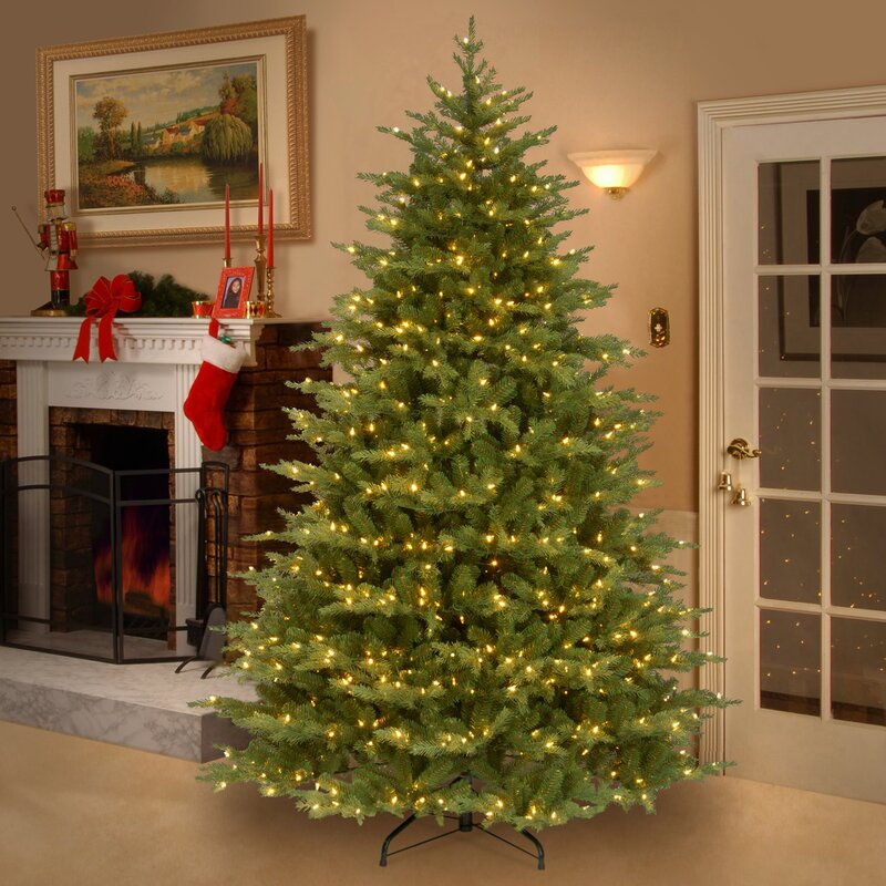 nordic 75 green spruce artificial christmas tree with 900 clear lights and stand