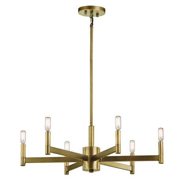 Langley Street Gavin 6 Light Candle Style Chandelier U0026 Reviews | Wayfair