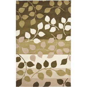 Woodburn Green / Beige Rug