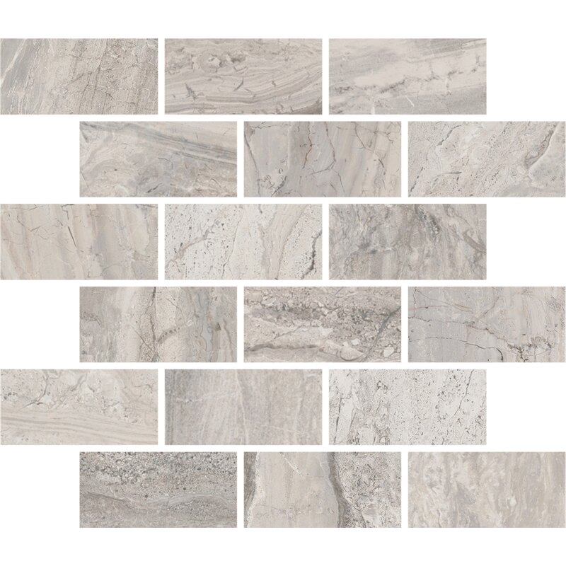 Interceramic Amalfi 115 X 115 Ceramic Mosaic Tile In Bianco