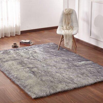 gray silver faux fur rugs you 39 ll love wayfair. Black Bedroom Furniture Sets. Home Design Ideas