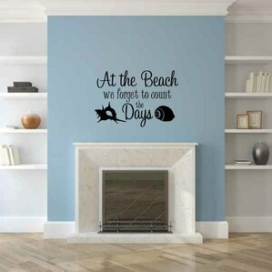 Coastal Wall Decals Youll Love Wayfair - Custom vinyl decal application instructionshow to apply wall decals windafurniture