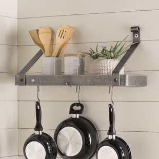 Usa Handcrafted Gourmet Wall Mounted Pot Rack