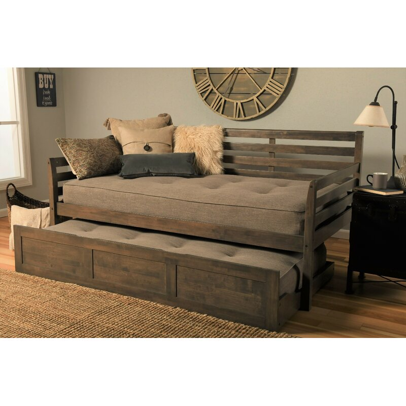 Ebern Designs Varley Twin Daybed With Trundle And Mattress
