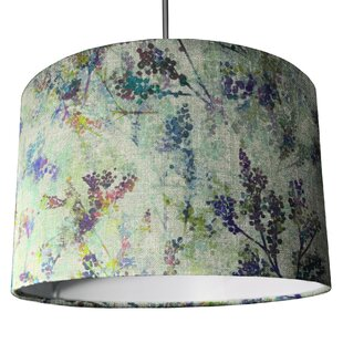 Print or patterned table floor lamp shades wayfair 305cm ellie wool drum lamp shade mozeypictures Choice Image