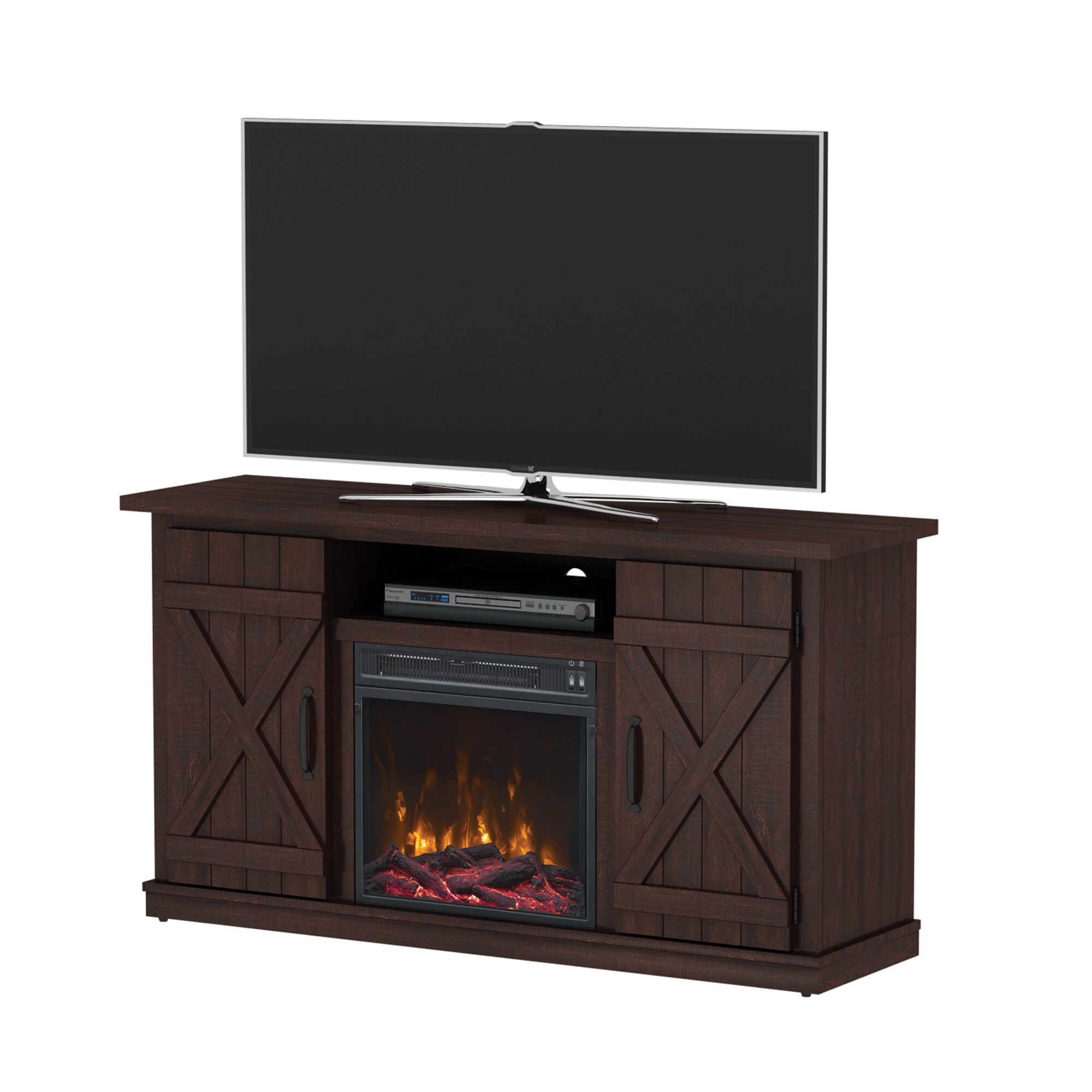Laurel Foundry Modern Farmhouse Serein 48 Tv Stand With Fireplace