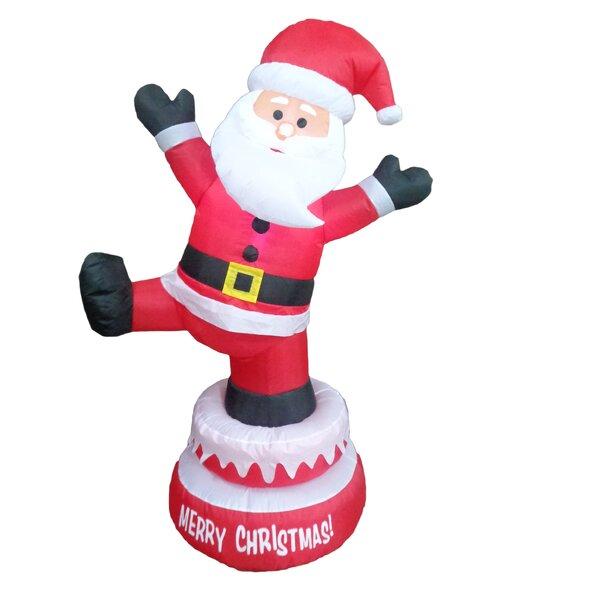 The holiday aisle christmas animated inflatable santa