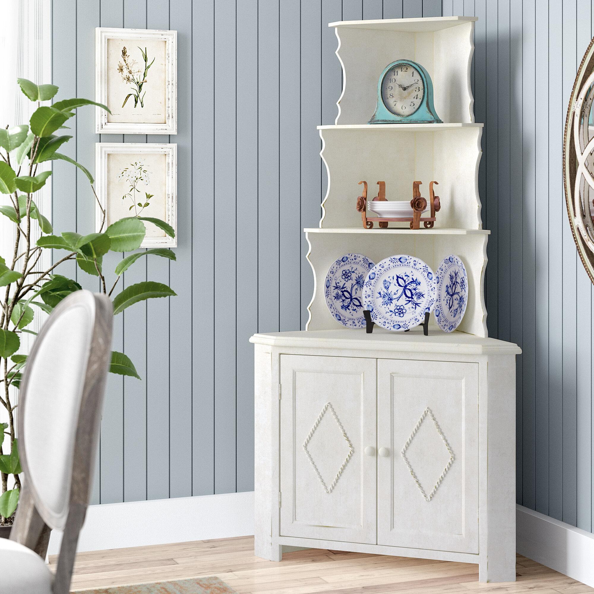 One Allium Way Amhurst Corner Display Accent Cabinet & Reviews   Wayfair