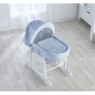 Loyal Baby Wicker Moses Basket With Rocking Stand Easy And Simple To Handle Bassinets & Cradles