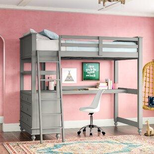 loft bed with desk and futon wayfair rh wayfair com bunk beds with desks for sale bunk beds with desks under them