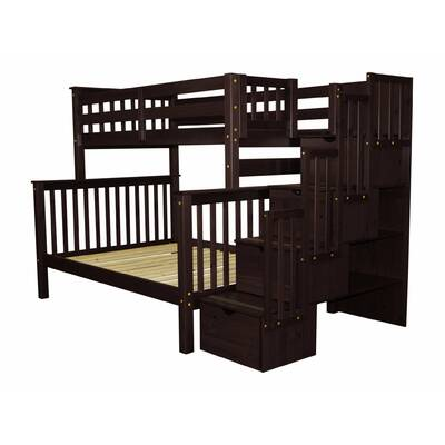 Tena Twin Over Full Bunk Bed With Trundle
