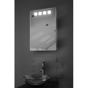 Aaron 40cm x 60cm Surface Mount Mirror Cabinet with LED Lighting. By Belfry Bathroom