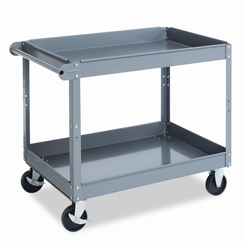 Tennsco 2-Shelf Metal Utility Cart & Reviews | Wayfair