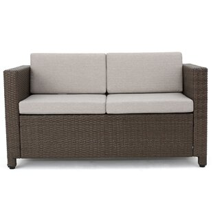 Larracey Outdoor Wicker Loveseat With Cushions