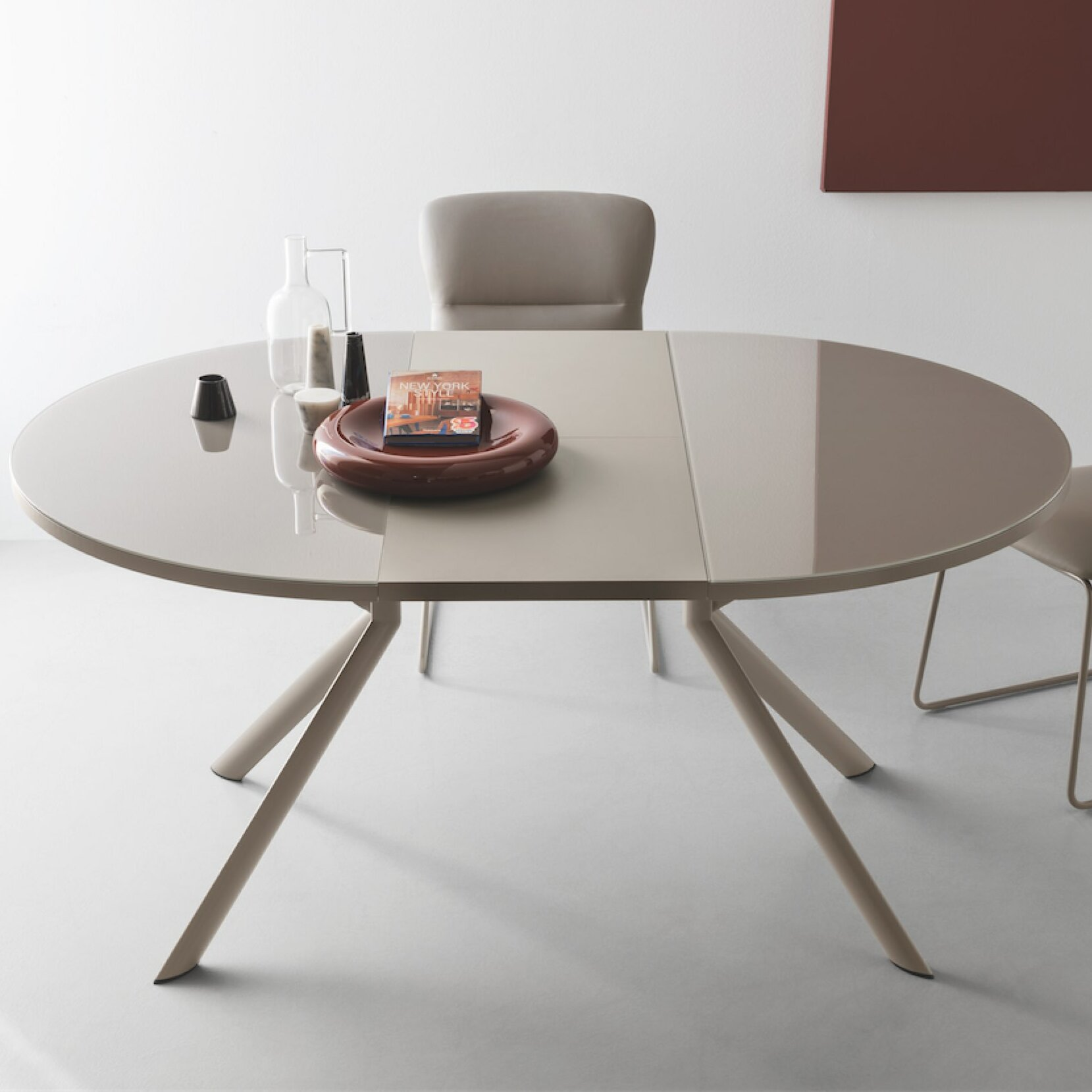 round extendable dining table Orren Ellis Meadowbrook Round Extendable Dining Table | Wayfair round extendable dining table