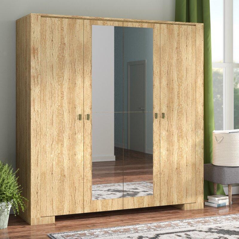 Terrell 4 Doors Armoire & Union Rustic Terrell 4 Doors Armoire \u0026 Reviews | Wayfair