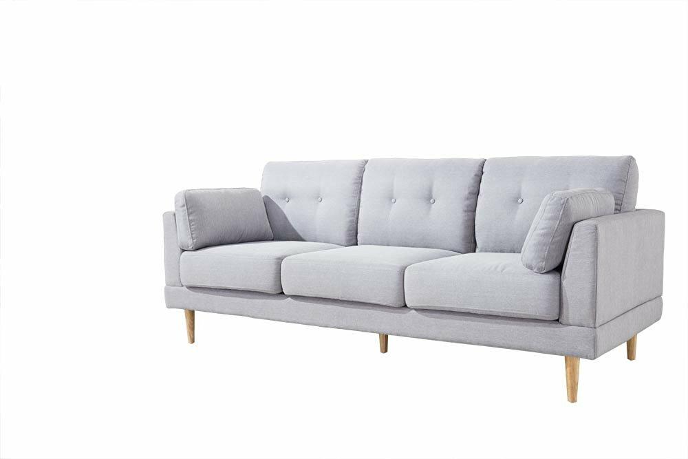 Madison Home USA Mid Century Modern Ultra Plush Linen Fabric Sofa U0026 Reviews  | Wayfair