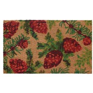 Low Profile Flatweave Pinecone Doormat