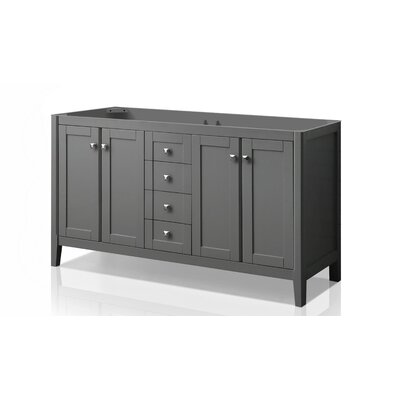 "Shelton 59"" Bathroom Vanity Base Only Ancerre Designs Base Finish: Sapphire Gray"