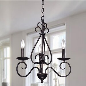 Oceanus 3-Light Candle-Style Chandelier