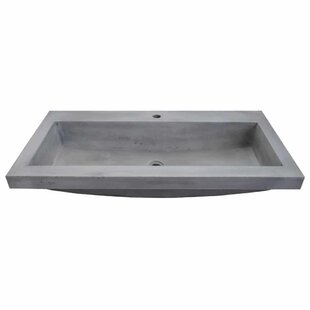 Charmant Trough Stone Rectangular Drop In Bathroom Sink
