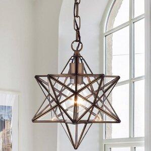 shuler star 1light geometric pendant - Star Pendant Light
