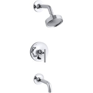 Purist Rite Temp Pressure Balancing Bath And Shower Faucet Trim With  Push Button